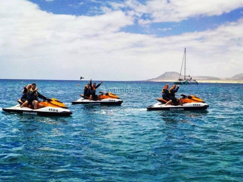Excursion en moto de agua por el sur de Fuerteventura