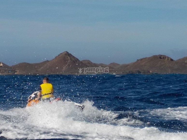 Fuerteventura en moto de agua
