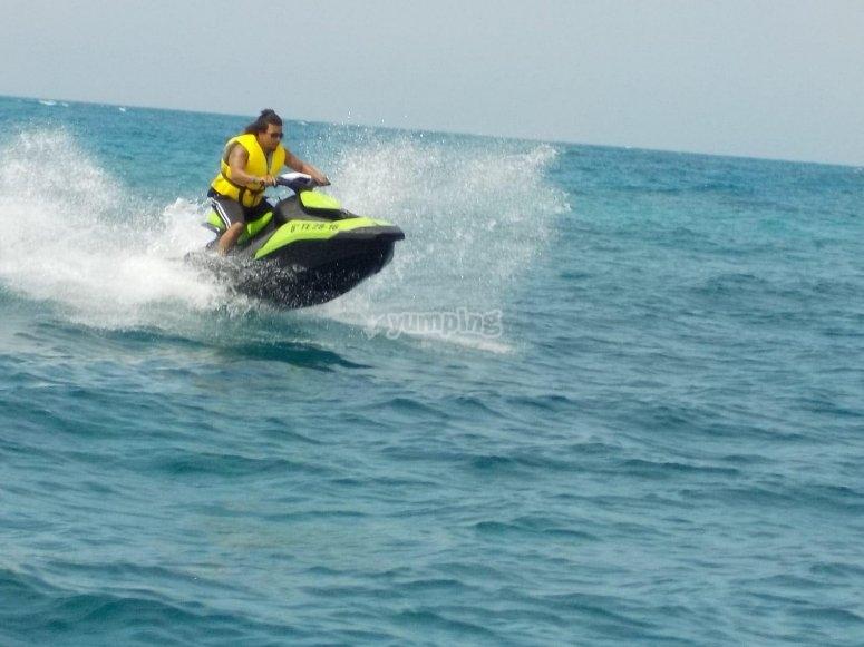 Velocidad en la moto de agua