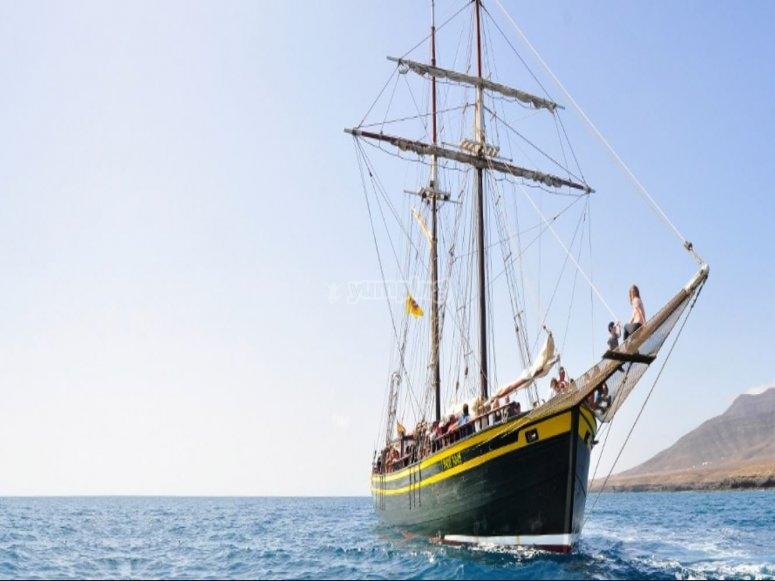 富埃特文图拉的纵帆船