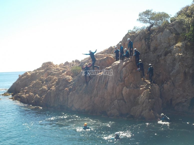 Ruta de coasteering team building