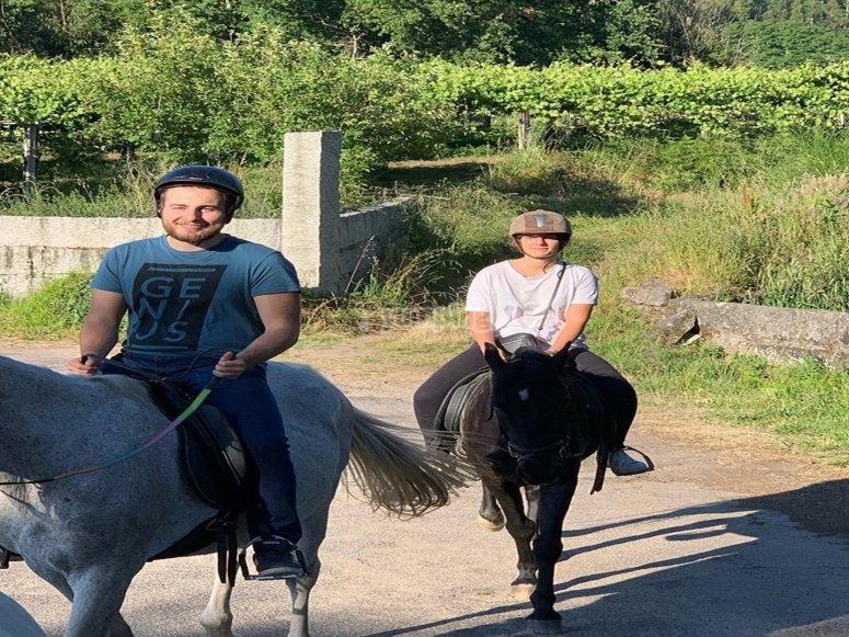 De paseo en caballo por Vilanova de Arousa
