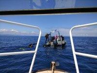 Vista de la neumatica desde el barco
