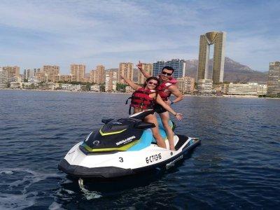 Ruta moto de agua biplaza 1 hora Villajoyosa