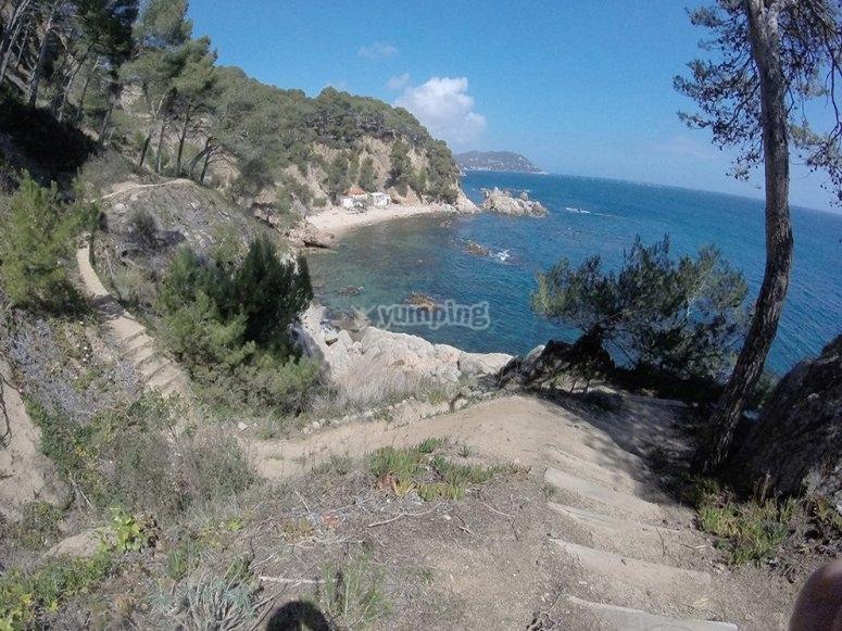 Castell de Cap Roig senderismo