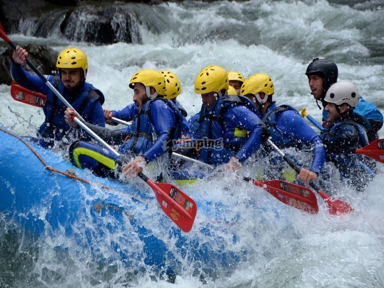 Descenso rafting grupo 2 horas