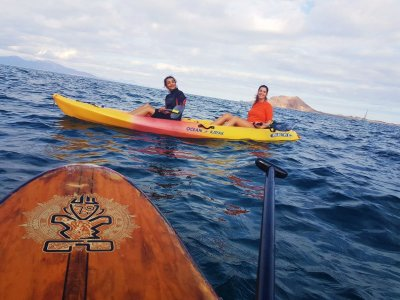 Kayak and snorkel route Corralejo harbour 2,30 h