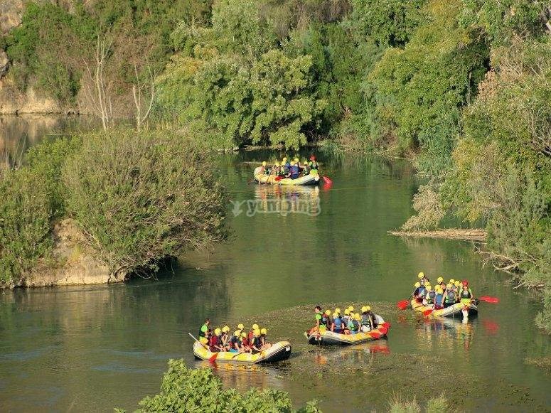 Rafting lungo il fiume Segura