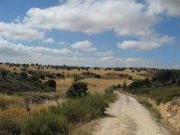 日落自行车Cañada的真实塞戈维亚景观