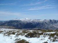 La sierra con nieve