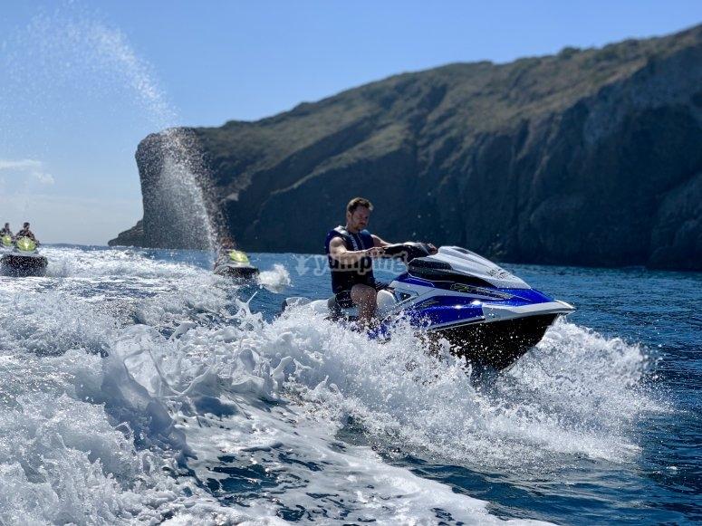 Potencia en el jet ski