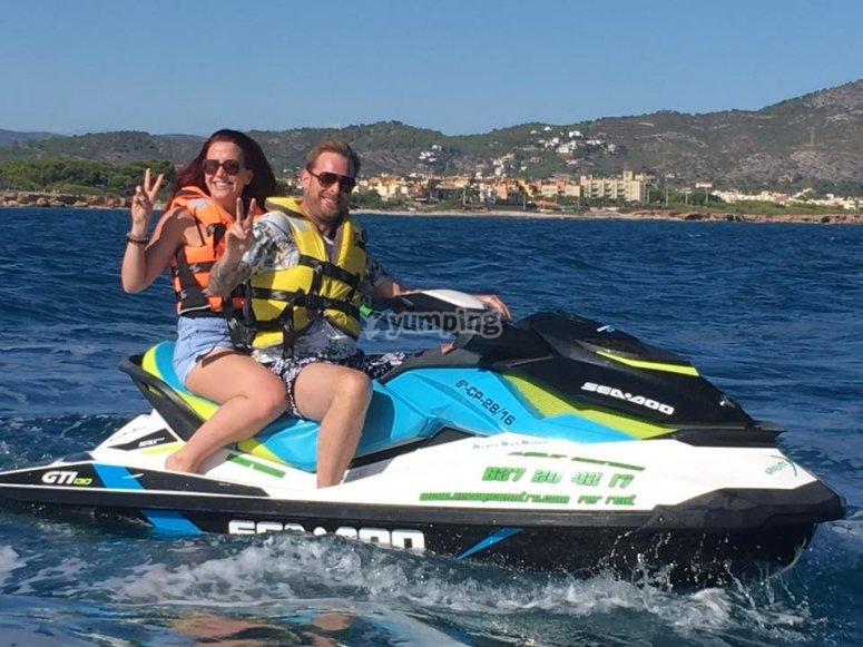 Salida en pareja con moto de agua Alcocéber