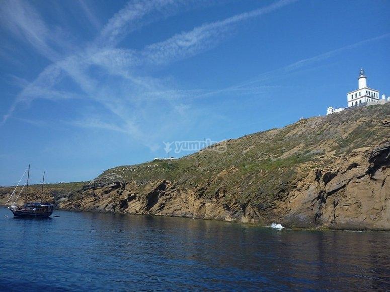 乘船游览Columbretes Islands