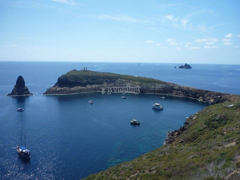Panoramic Columbretes Islands
