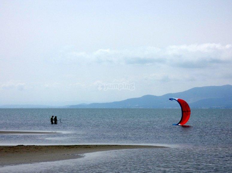 风筝冲浪的理想表面