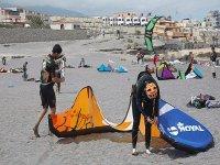 准备海滩风筝