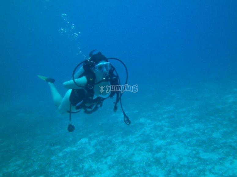 在地中海下