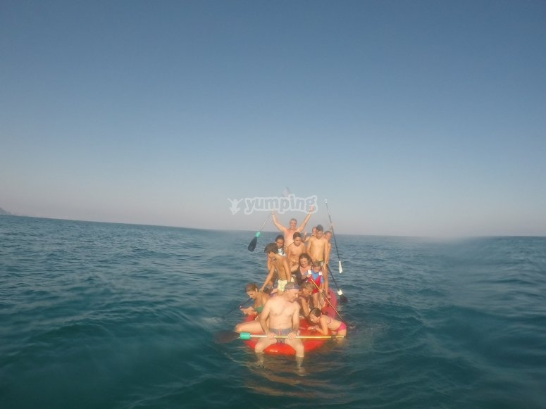 Big SUP for families in Alicante's beach