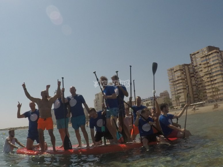 Paddle surf board for 12 people