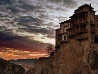 The Casas Colgadas at dusk