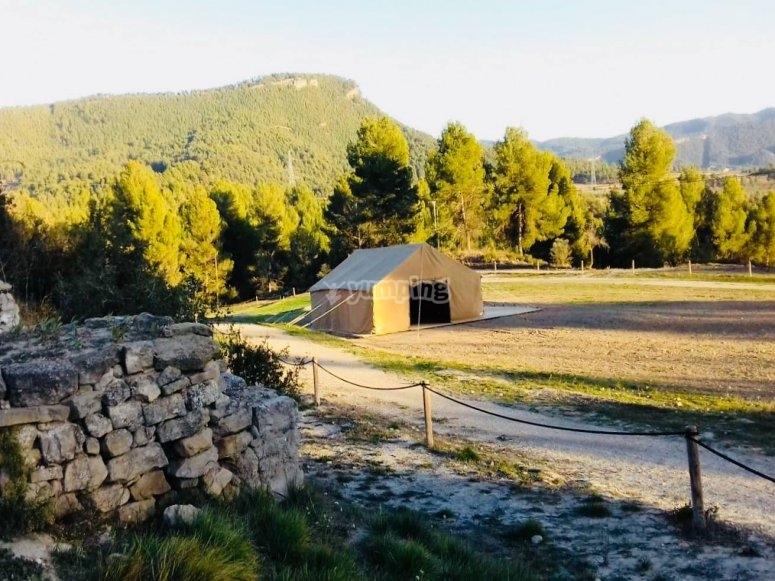 山脉之间的农场