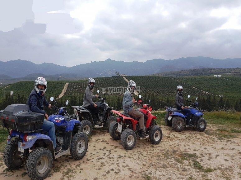 阿尔梅里恩山脉四轮摩托车