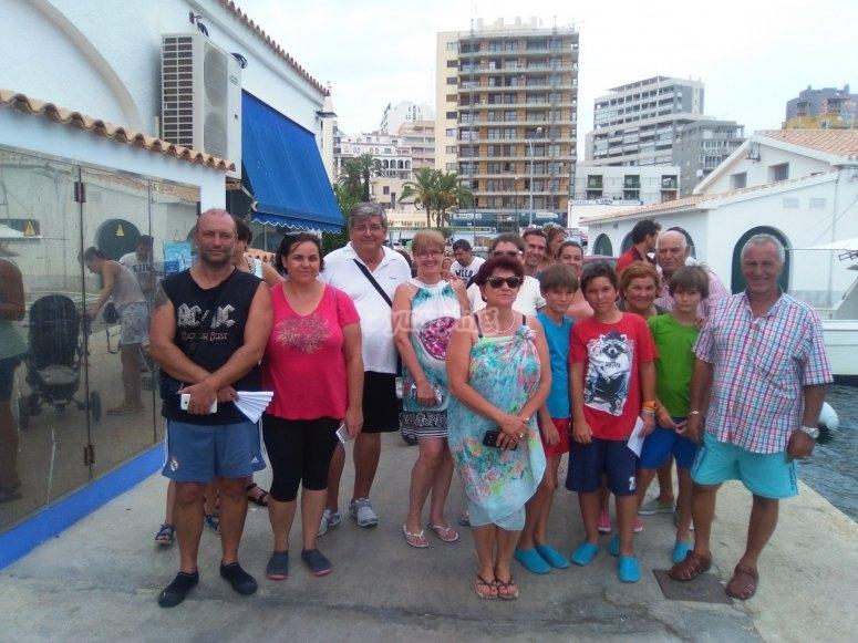Grupo de visita al puerto de Calpe