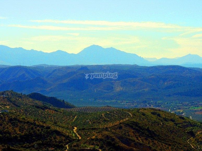 Vistas de montañas Málaga