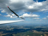 Glider flight in the Pyrenees
