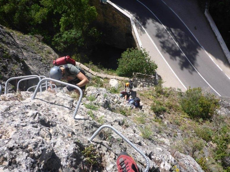 Escalera de ascensión de la vía