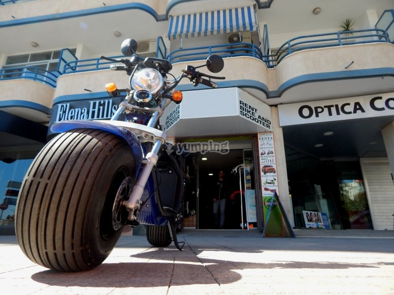 Alquiler moto eléctrica Calpe