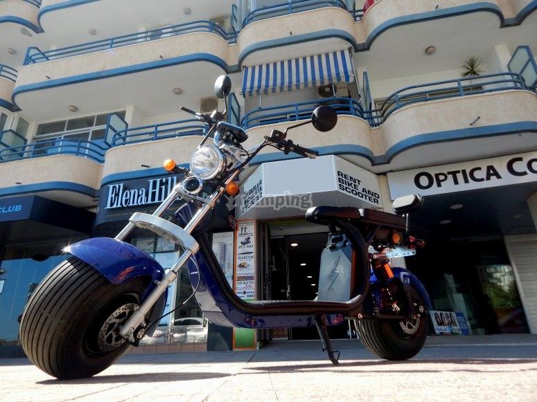 Ruta en moto eléctrica Calpe
