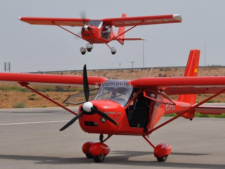 Avioneta ultraligera en San Javier