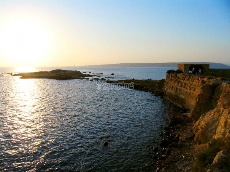 Isla de Tabarca desde el aire