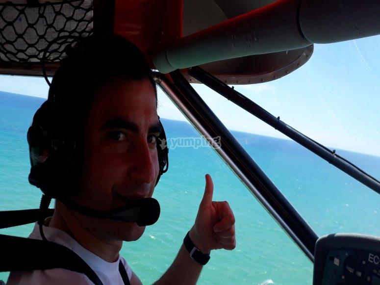 A bordo de la avioneta