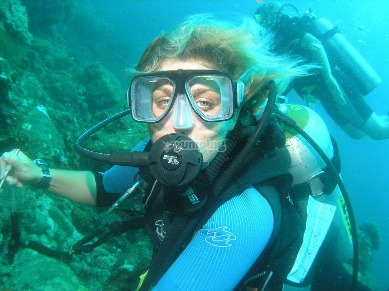 Diving baptism in Fuerteventura
