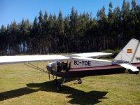 Take off in Castriz flight field