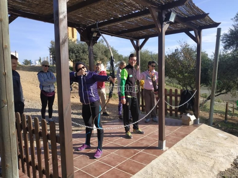 Doing archery in Córdoba