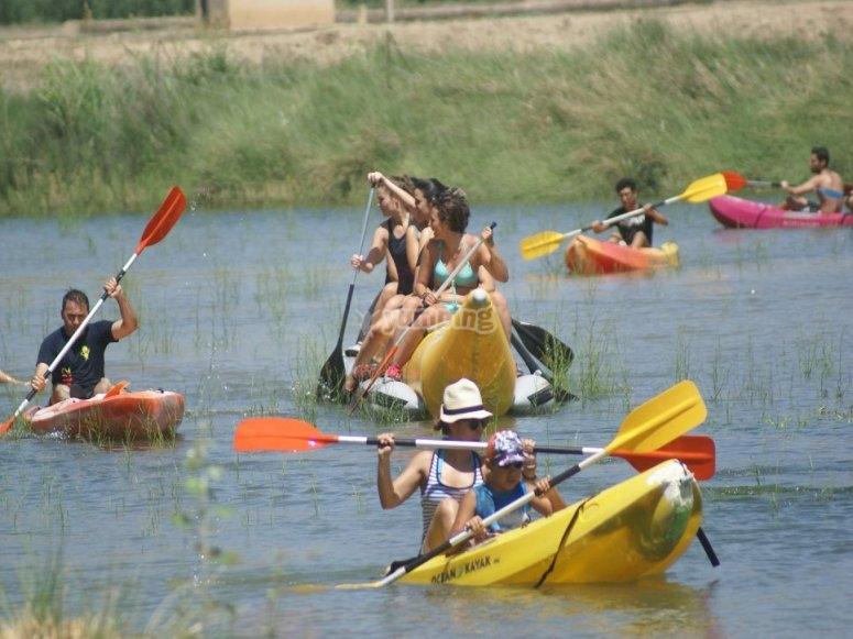 Kayak en grupo Murcia