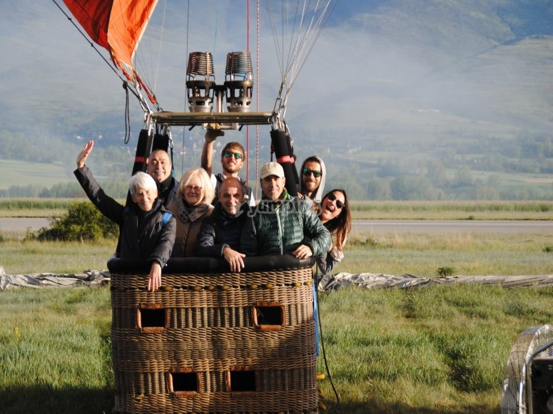 Balloon ride for 6 people