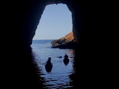 Kayak tour in Cala Granadella 3 hours