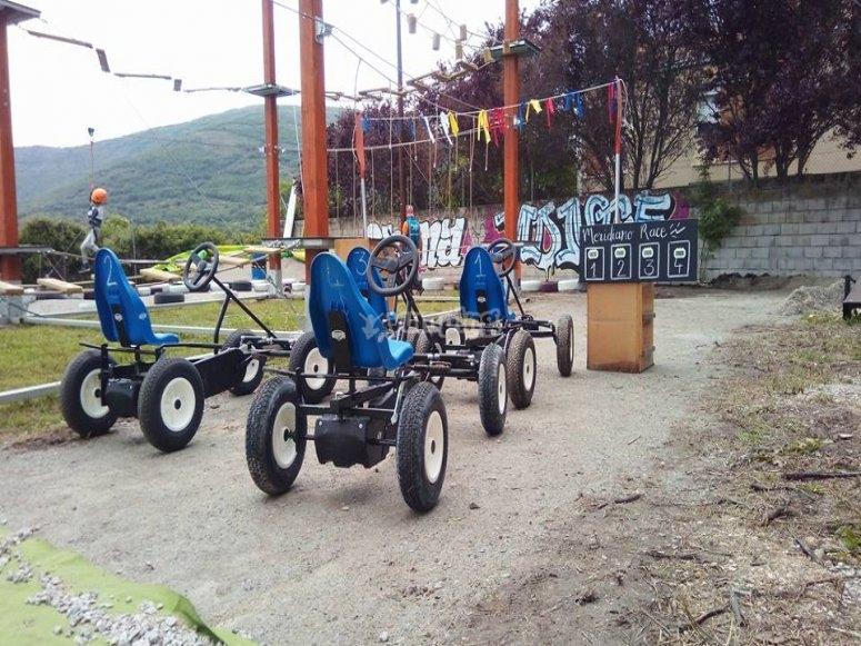 Karts a pedales en Lozoya