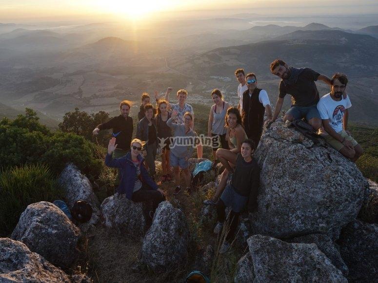 Ruta para grupos en monte Algarín
