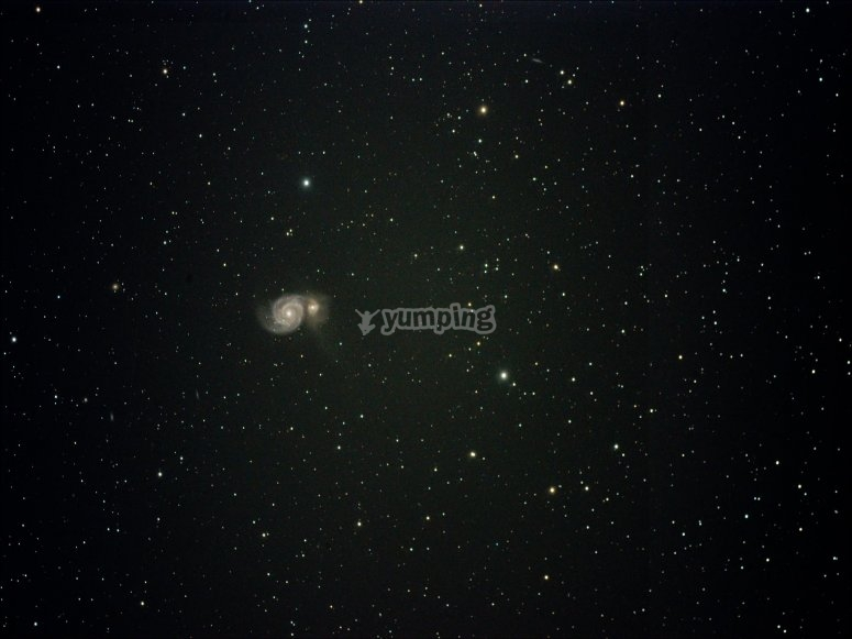 Observación astronómica desde monte en Sevilla