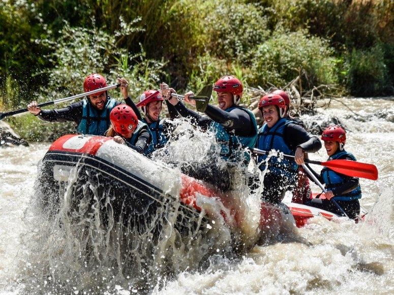 Tramos de aguas bravas en río Genil