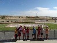 En el circuito de karting