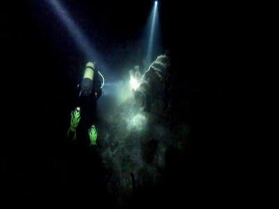 Partenza immersione notturna dalla barca Tarragona 2 h 30