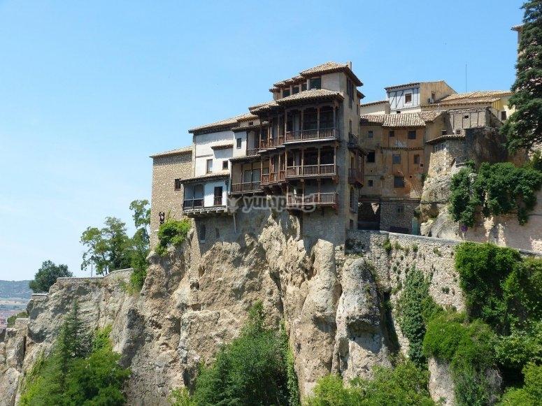 Casas colgantes en Cuenca