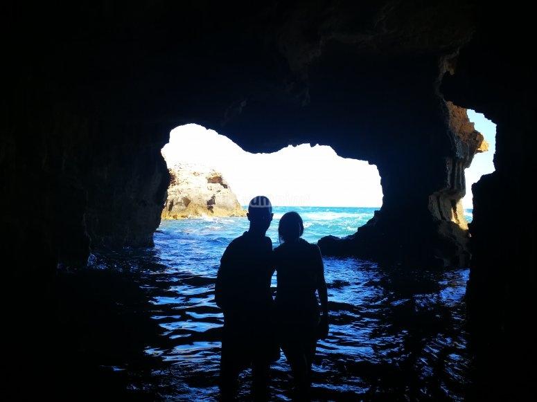 Baño en la cueva