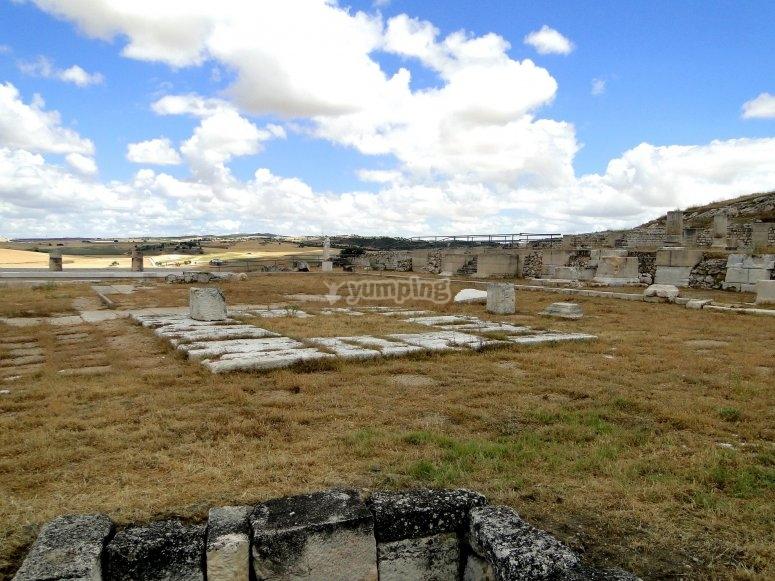 乘坐气球罗马废墟塞古布里加